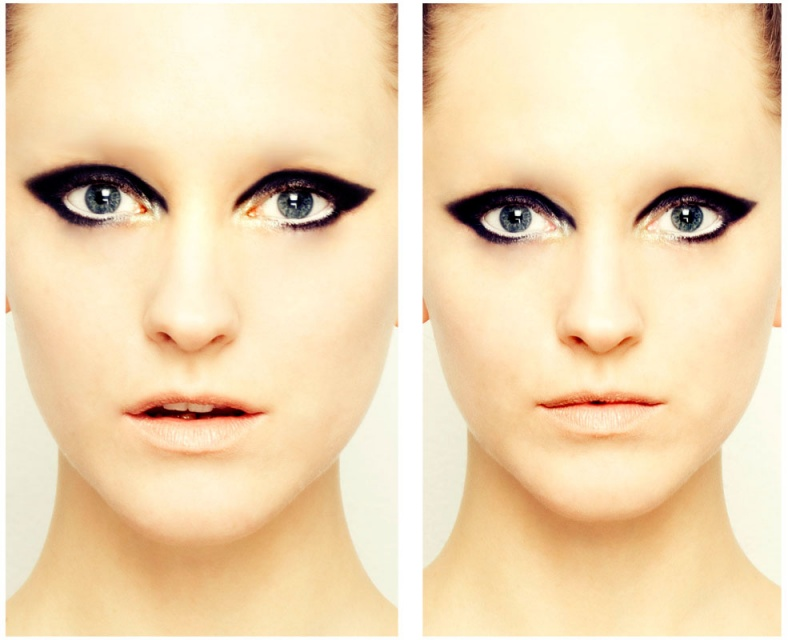 Female model photo shoot of LuanaDElias by LuanaDElias in Reflection studios, makeup by Junko Fujita