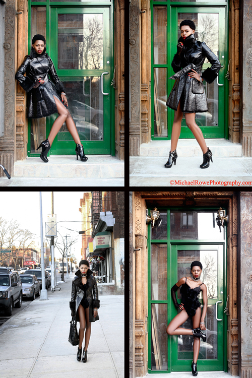 Brooklyn, NY Feb 01, 2009 ©MichaelRowePhotography Paola, next top model -  20degrees weather & she looks amazing.