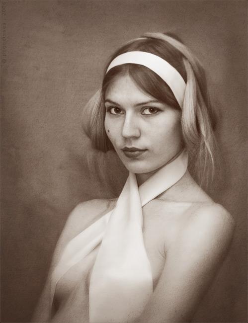 Russia Feb 03, 2009 pogodinaea self-portrait with headband