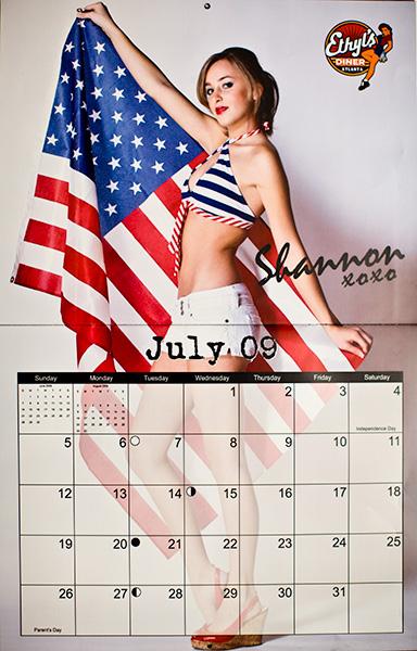 Feb 03, 2009 Jeremy Adamo Miss July in Ethyls Pin-Up Girl Calendar