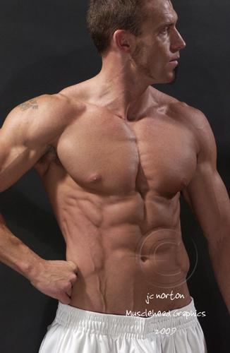 Feb 03, 2009 JC Norton- Musclehead Graphics White workout Pants