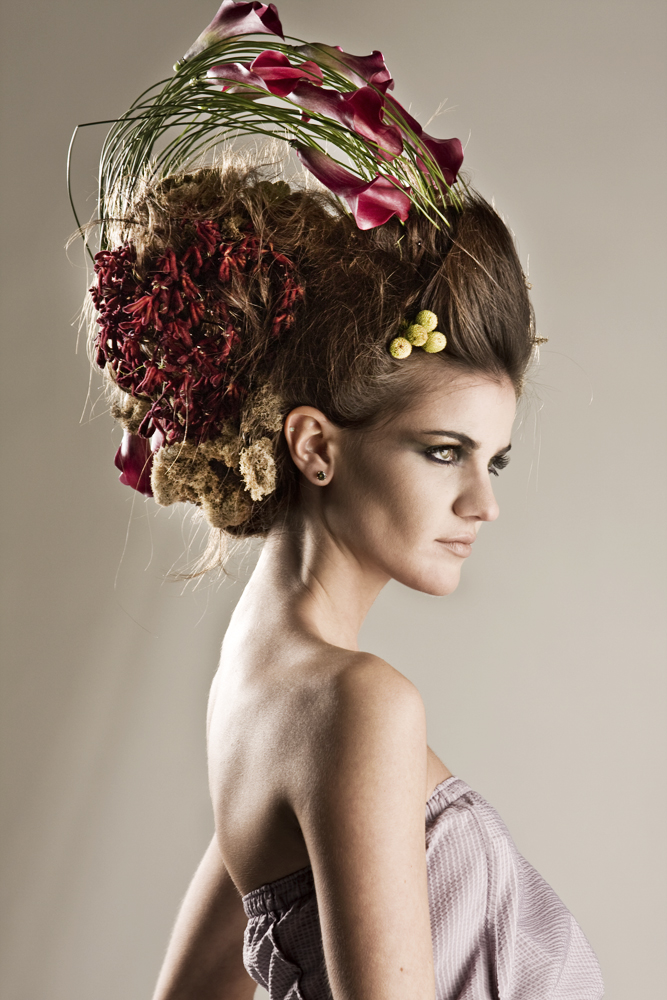 Female model photo shoot of Emilie Cyr by Nick Lafontaine, hair styled by Kym Krane - HairDesign