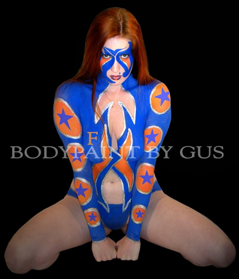 Clearwater, Fl Feb 06, 2009 Bodypaint by Gus Super Gator Girl