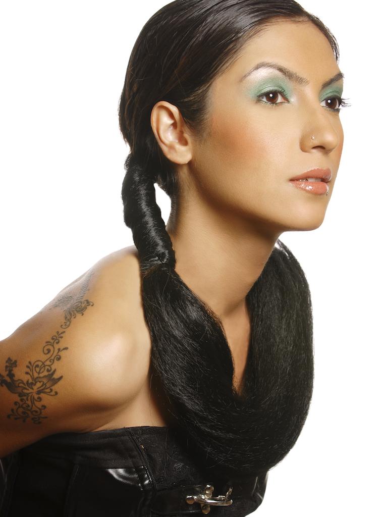 Female model photo shoot of Tara Farah by Jon Owens - GB Studios, makeup by Samantha Henrikson