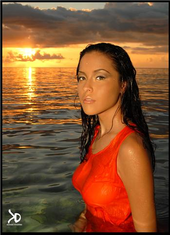 Female model photo shoot of Angelique Griffin by Donald Knowles in Orange Hill beach, Nassau Bahamas, makeup by italia williams
