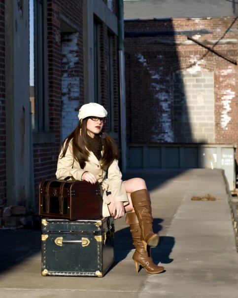 Female model photo shoot of AmandaLiz by Red and Black in Milltown