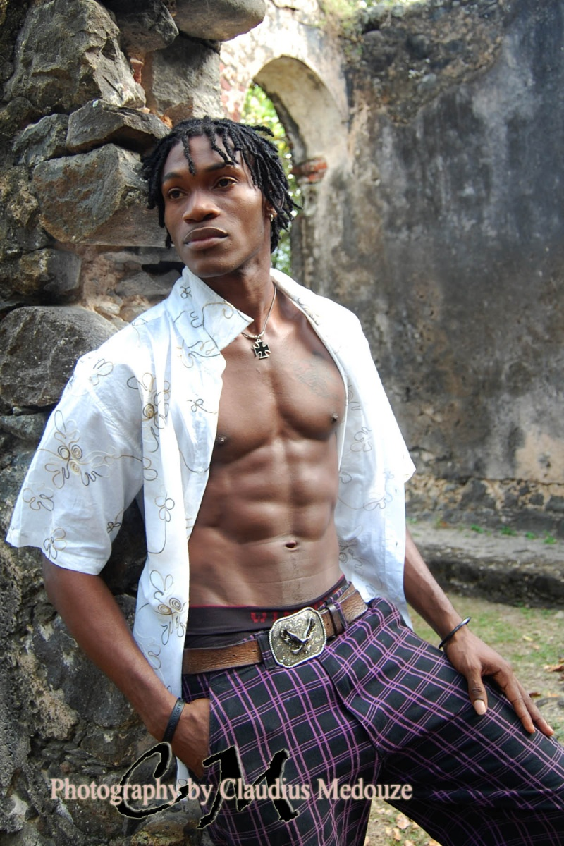 Male model photo shoot of Medouze in St.Lucia
