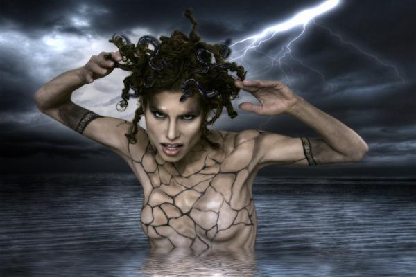 Feb 12, 2009 Photo: Craig Barnes / Hair: Brittany, Nathalie and Kim / Make up: Lymarie Millot / Model: Raquel Marmor