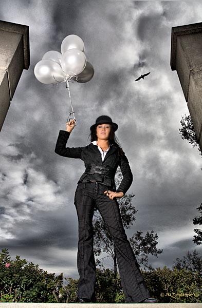 SF Bay Area Feb 12, 2009 JDTerakawa The Bird and Balloons