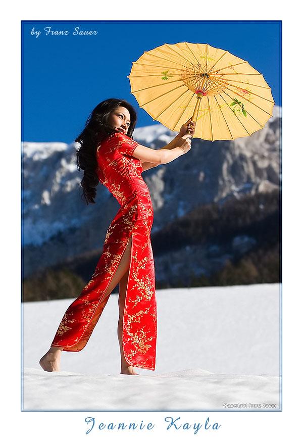 Styria, Austria Feb 15, 2009 Franz Sauer, Vienna/Austria, www.sirfranzis.at Chinese fashion meets Styrian mountains