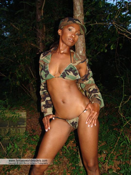 Miami, FL Feb 16, 2009 Aldrick Williams Camo string bikini w/ shrug jacket
