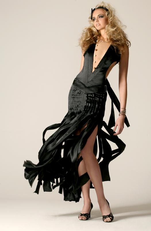 Las Vegas, for Vegas Magazine Feb 20, 2009 David Alexander LLC Maltese Evening Gown