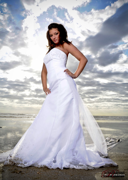 Galveston across at the Bolivar Feb 21, 2009 The Photo Binder Studio Trash the Dress sea shore