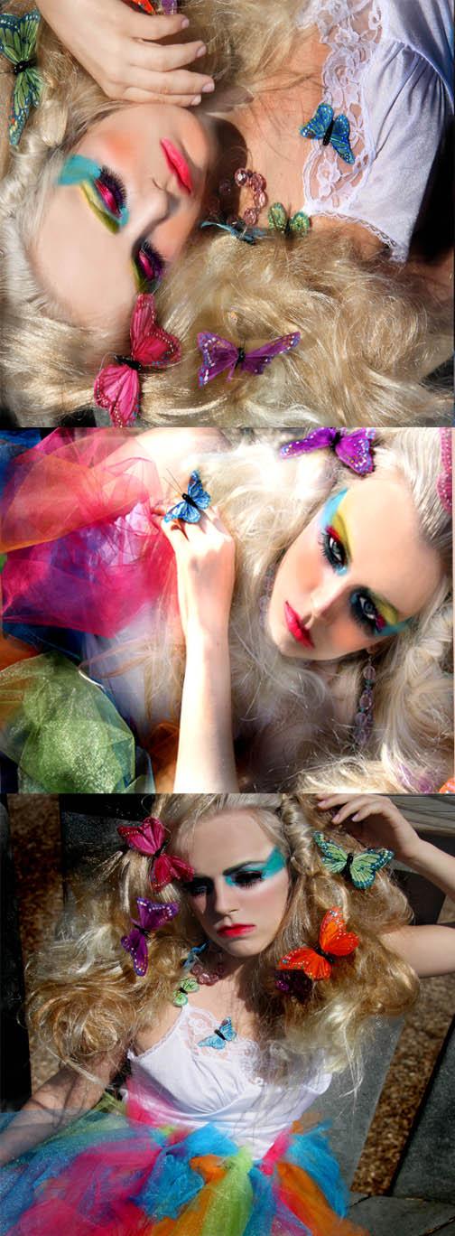 Female model photo shoot of FLAUNT MAKEUP and Shina