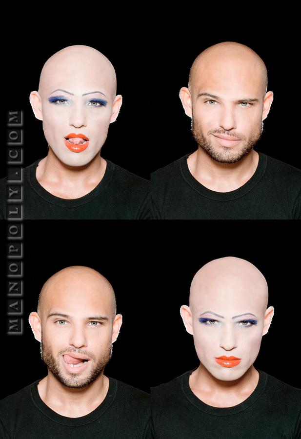 Berlin Mar 01, 2009 www.Manopoly.com. Make-up Olliver Haenisch DICHOTOMY.Fatih.