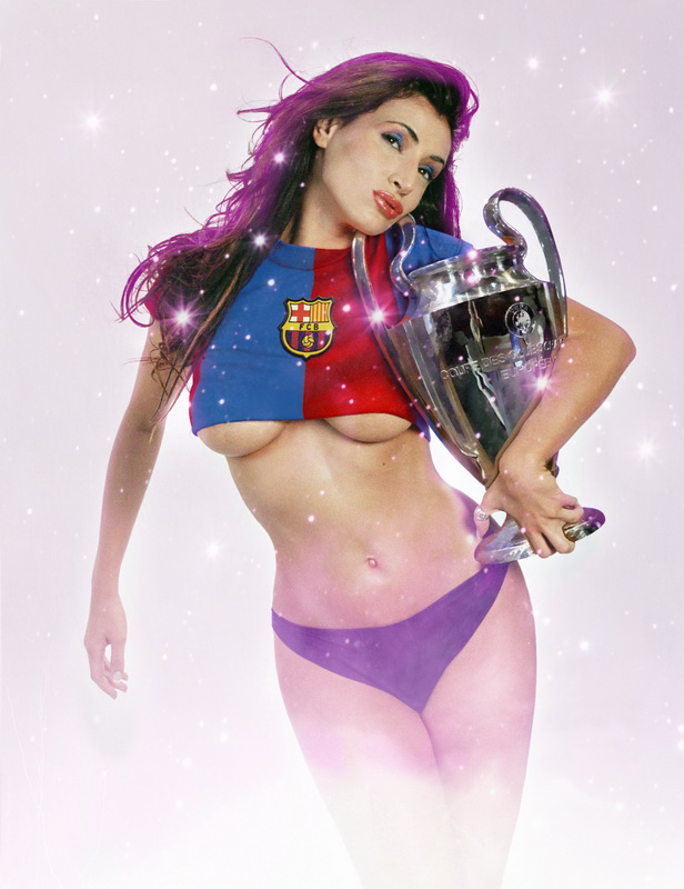 Champions Heaven Mar 02, 2009 Digital Art: Art of Walls, Photo: Full González Work for Futbol Life Magazine. They wanted me as a Barcelona FC big fan