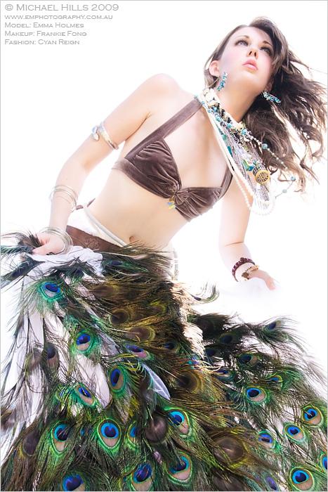 Inspired by woodstock Mar 04, 2009 Michael Hills Velvet and shell Fatale bikini with Eded skirt