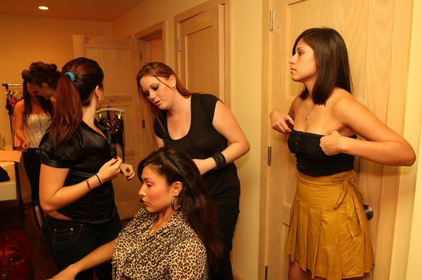 Female model photo shoot of makeup chic in Fifth Night Club South Beach