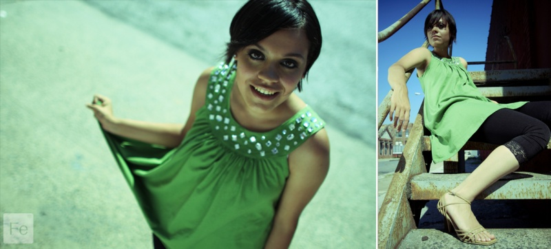 Female model photo shoot of Dayana MC by CEBido in New York City, makeup by HGM BEAUTY