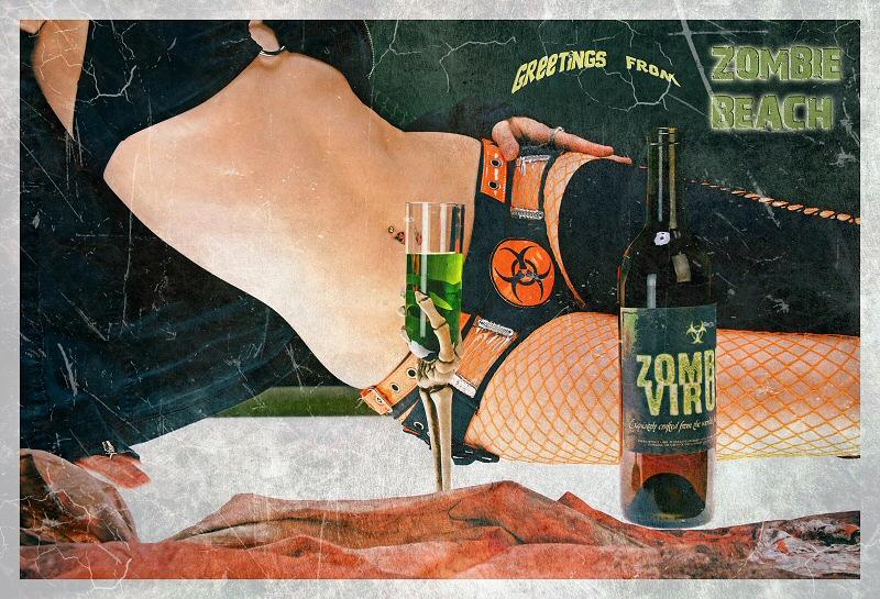 Zombie Beach Mar 07, 2009 Photocraft Las Vegas Postcards from the Edge
