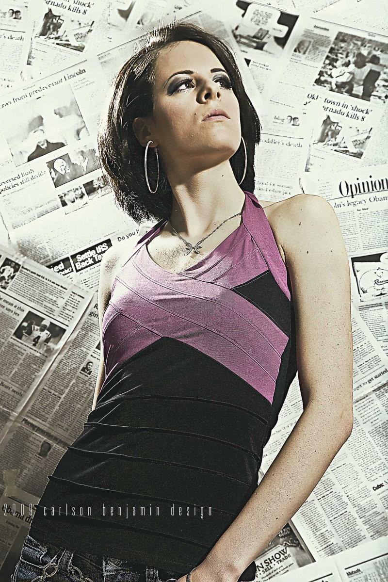 Female model photo shoot of Just-Dance by Carlson Benjamin Design, makeup by Aleah K