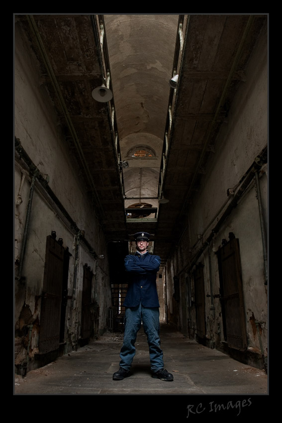 Male model photo shoot of james shoemaker in eastern state Penitentiary*