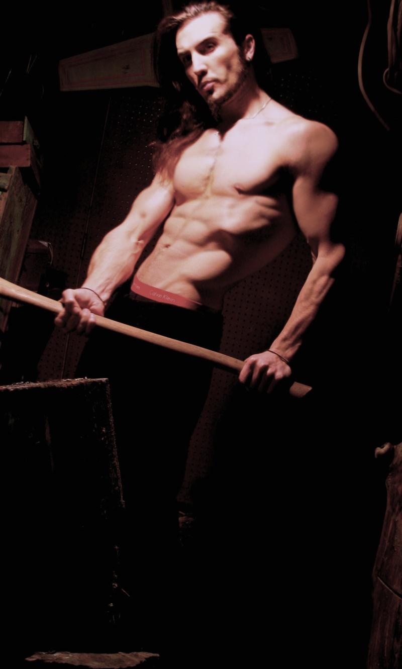 Male model photo shoot of Anton Von Altrichter in my basement