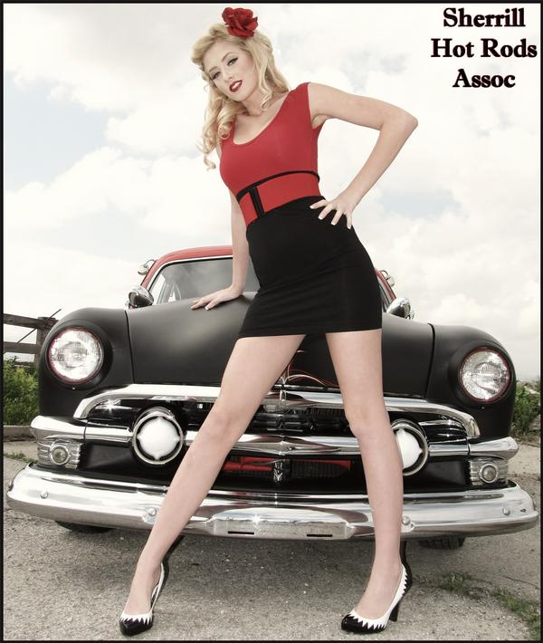 Ontario, CA Mar 12, 2009 Sherrill Hotrods Assoc & Rachel Silverman 51 Ford Pinup