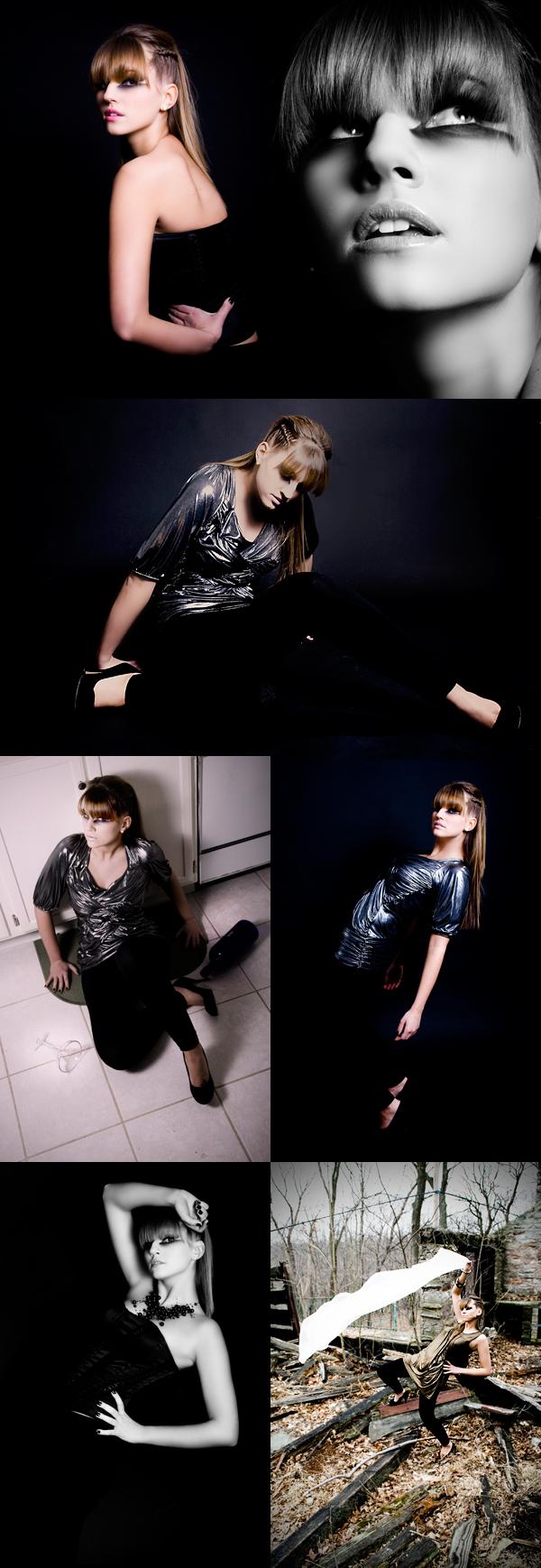 Female model photo shoot of Caitlin Thomas and Lenka Lukacova in Studio - Park, makeup by Molly McMenamin