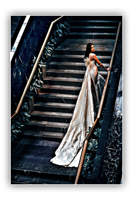 Moscow Mar 16, 2009 Photo by Alexsandr Nozdrin, Wed dress by Pepe Botella Beautiful Bride