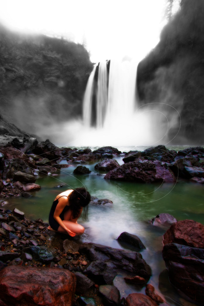 Male and Female model photo shoot of lessthan3 Photography and andreathesmall in Snoqualmie Falls