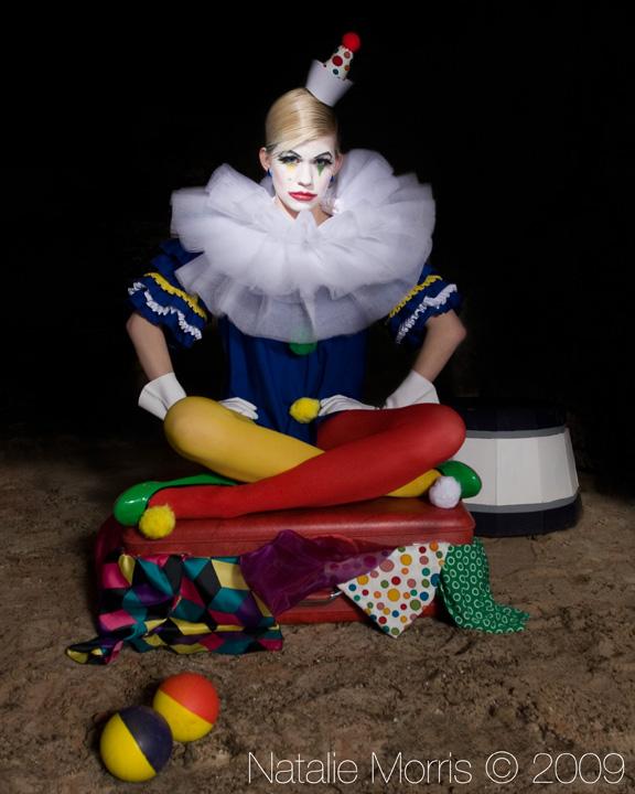 basement Mar 23, 2009 Natalie Morris © circus clown