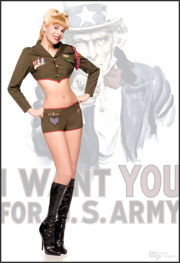 Studio 3775 Mar 26, 2009 Michael Petersen Published in Military issue of Pinup Perfection (June 2010)