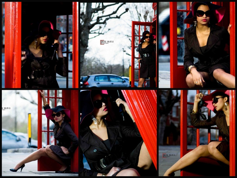 London Mar 30, 2009 http://www.pratikdhawanphotography.co.uk Tele-Phone booth girl