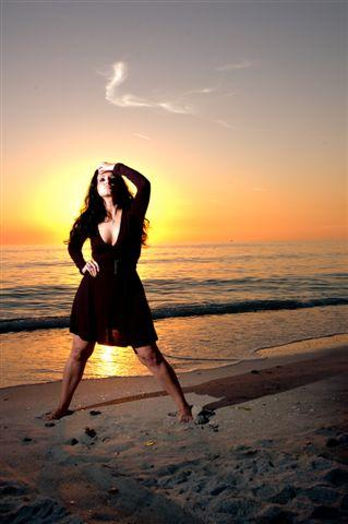 Male and Female model photo shoot of Billy Kidd Photography and Miche M in Anna Maria Island Florida  3/09