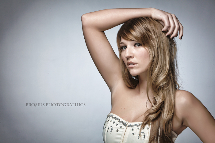 Female model photo shoot of Lenka Lukacova by Brosius Photographics, makeup by Star Hair and Makeup