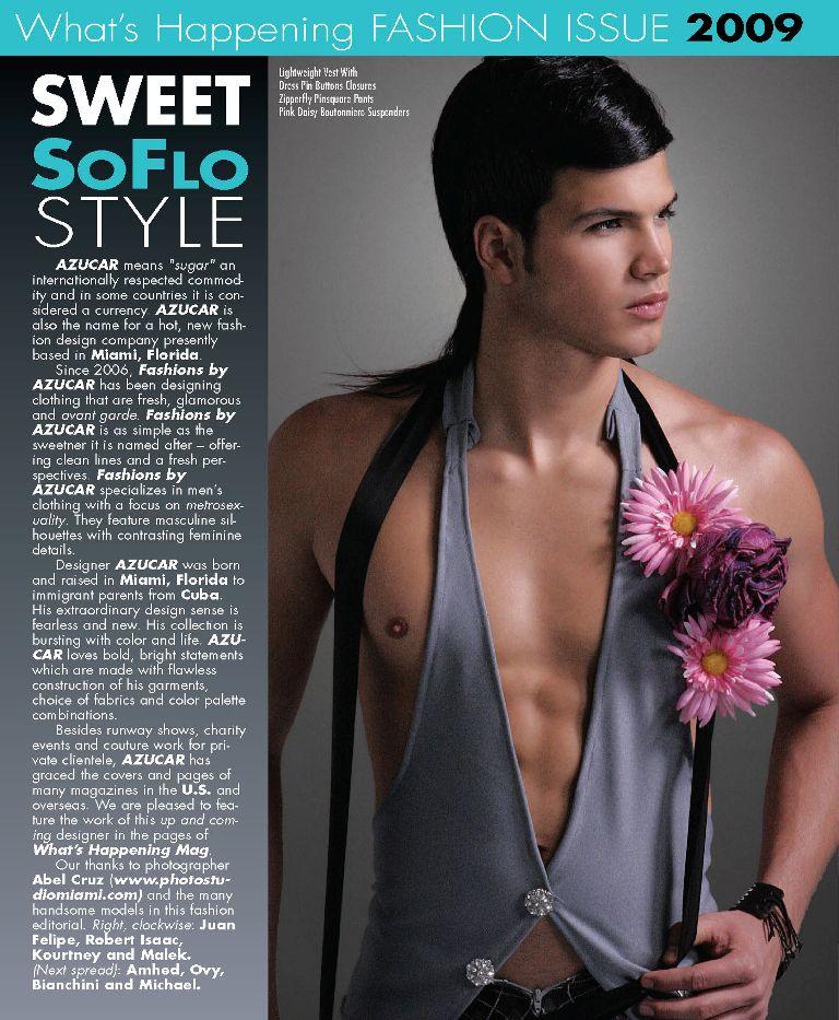 Miami, Florida Apr 03, 2009 Photo Studio Miami Whats Happening Magazine / Fashion Issue / April 2009 / model: Juan Felipe