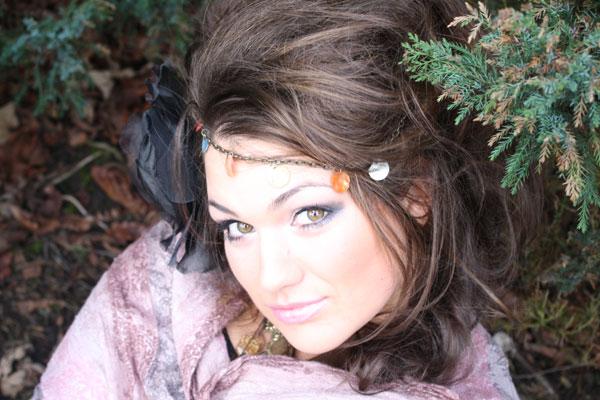Female model photo shoot of sarah vieira da cruz in gardens