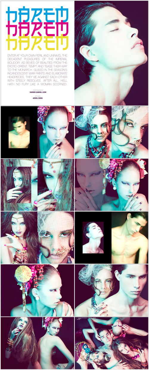 Apr 12, 2009 Harem - Styling: Adriel Chiun, Make-up: Hannah Oh, Hair: Chris Ruth