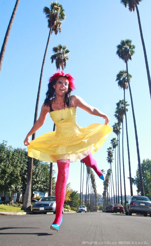Los Angeles Apr 12, 2009 MinkyBlink - 2008 Karen - happy 2 B in LA