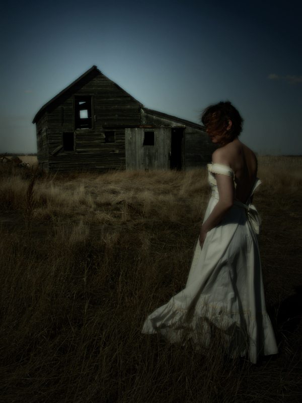 Rural North Dakota Apr 14, 2009 Anisa Nin Burnt Wood & Decayed Lace 2008 (title by jeo) (portrait of a friend - Jeni)