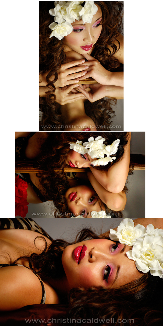 Female model photo shoot of Christina Caldwell and Linh_Le in Stockton, CA, hair styled by Marcie Bias, makeup by Christinas Designs