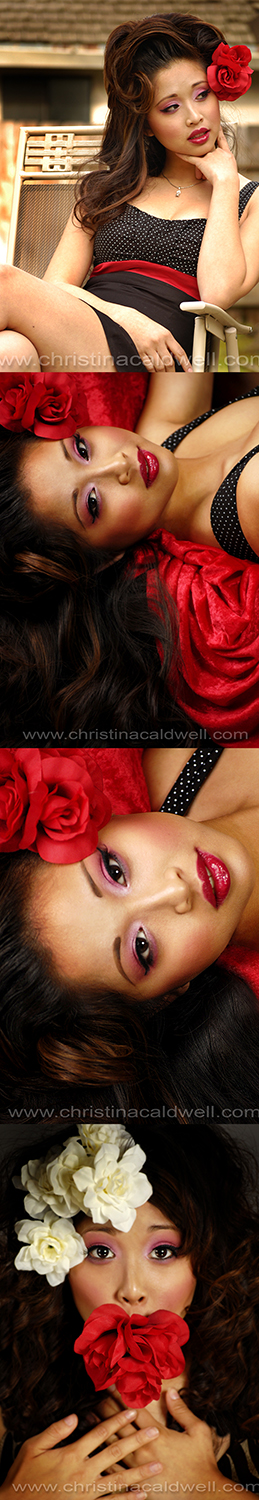 Female model photo shoot of Christinas Designs and Linh_Le by Christina Caldwell in Stockton, CA, hair styled by Marcie Bias