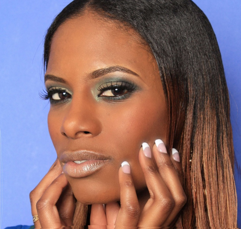 Female model photo shoot of Nakeda Eye Candy by GMAC Elements in Duluth GA, makeup by Alexandra Butler MUA