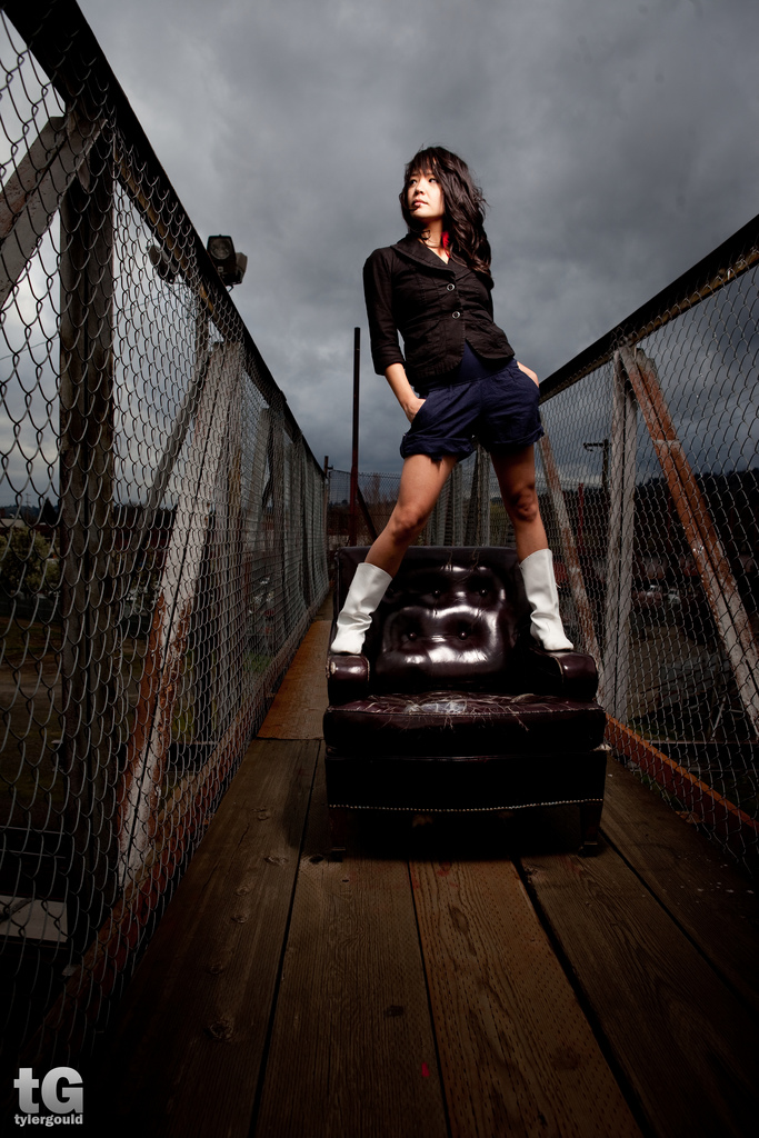 Female model photo shoot of Desiree Cromwell by Tyler Gould in SE Portland