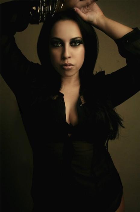 Female model photo shoot of Vixen Venom Makeup and 00000 ooooo by LeDeux Art