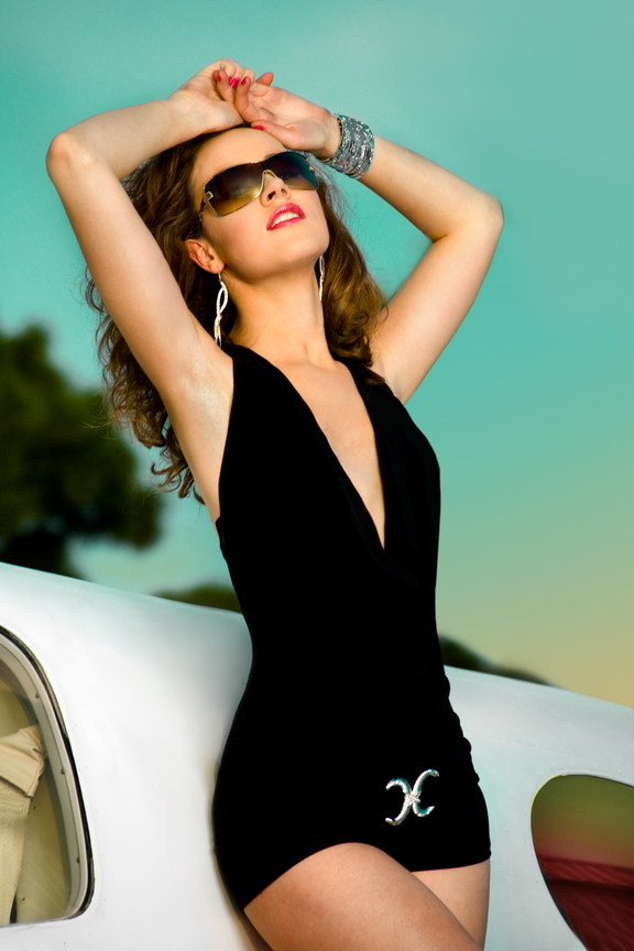 Female model photo shoot of LiLi Peters by Anna Gunselman, makeup by CELEBRITY Chris Lanston