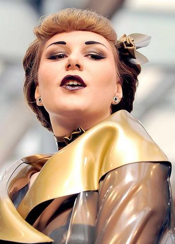 Female model photo shoot of Poppy Scarlet in Spitalfields, London