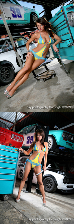 Apr 21, 2009 day photography Copyright ©2009 From Dusk til Dawn in an Autoshop! - Model Amanda Gift