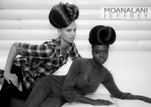 Female model photo shoot of DanielleElizabeth in Backstage at the S&G Fashion Show, hair styled by Hair by Lorenzo Diaz
